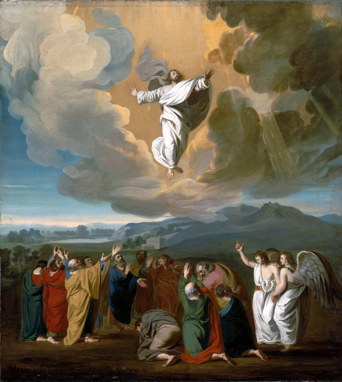 Painting of Jesus Ascending into Heaven